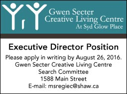 Gwen Secter Creative Living Centre Search Committee