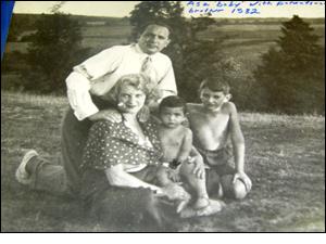 Photograph of the Saltzberg family