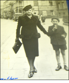 Walter with his mother in Warsaw