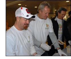 Danny Spodek, Darryl Sittler and Paul Henderson