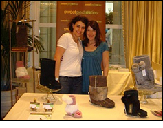 Zipursky and Tapper at their display table at the Gift Lounge
